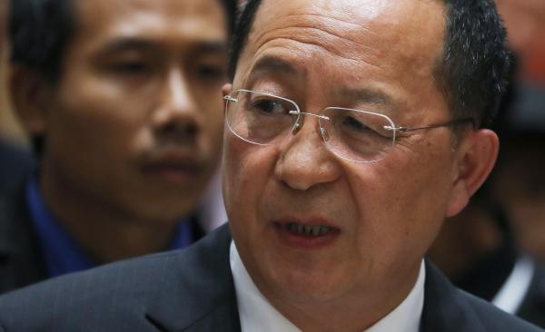 当地时间23号,朝鲜外务相李勇浩在第71届联合国大会上发言称,朝鲜将继续增强核武能力。 东方IC 资料图