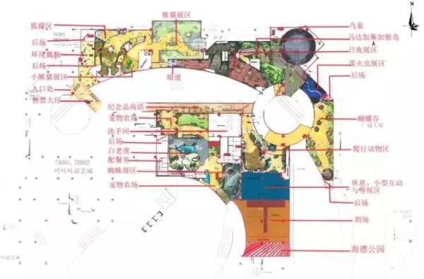 正佳萌宠动物乐园的规划图。