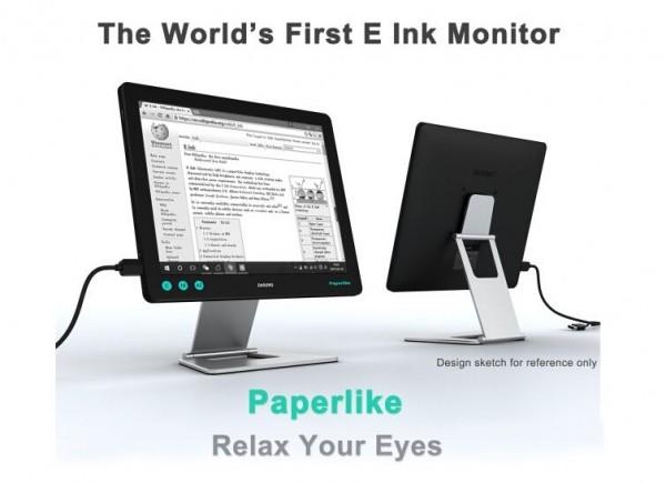 全球首款墨水屏PC显示器发布:码农神器!
