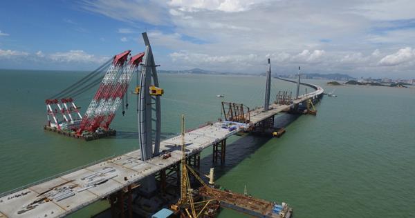 港珠澳大桥主体桥梁。 视觉中国图