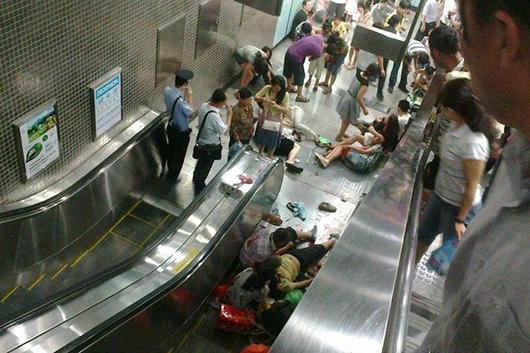 2011年,北京地铁植物园站电梯逆行事变形成1人殒命,2人轻伤,26人重伤