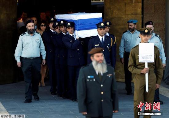当地时间2016年9月30日,耶路撒冷,以色列将为已故前总统佩雷斯举行葬礼。