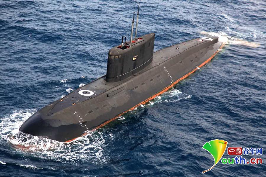 中国海军372潜艇。 资料图