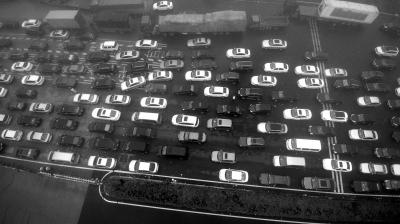 昨天,江苏省太仓市清晨遭遇能见度不足200米的大雾,沈海高速江苏省太仓段由上海往江苏方向一侧车道车流拥