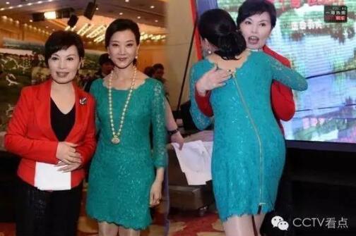 """5月10日,CCTV""""美丽中国湿地行""""活动启动,宋祖英出席活动,还在现场与央视新闻主播李瑞英热情拥抱。"""