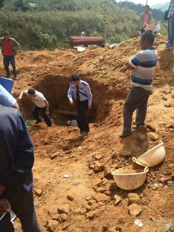 遇害女孩尸体被发现现场。罗平警方 图