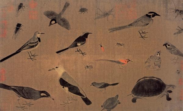 五代 黄筌《写生珍禽图》
