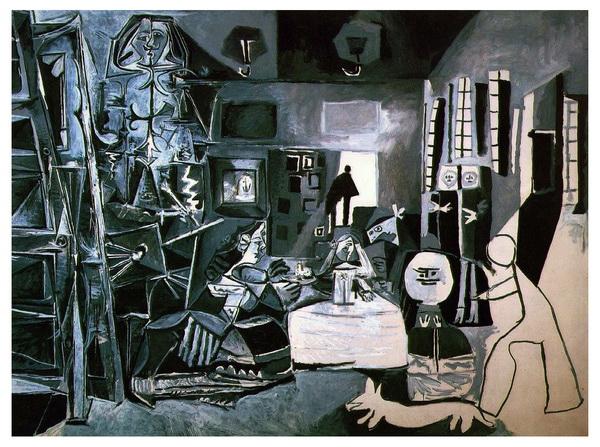 毕加索对《宫中侍女》的重新诠释