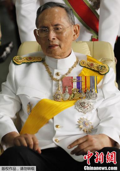 泰国国王普密蓬病情仍不稳定 需依靠呼吸器
