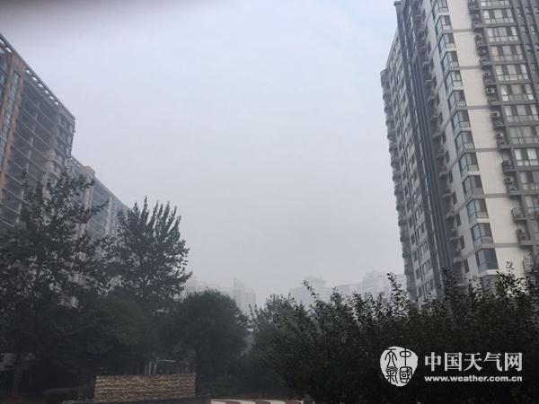 今晨,北京呈现大雾,能见度欠安。(夏雨 摄)