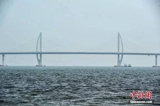 """过了6公里,能够看到桥塔像""""海豚""""的桥――江海直达船航道桥,会让你想到中华白海豚。"""
