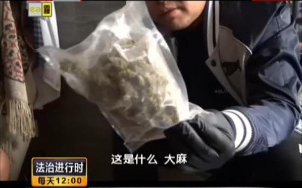 歌手宋某涉毒被抓现场。视频截图