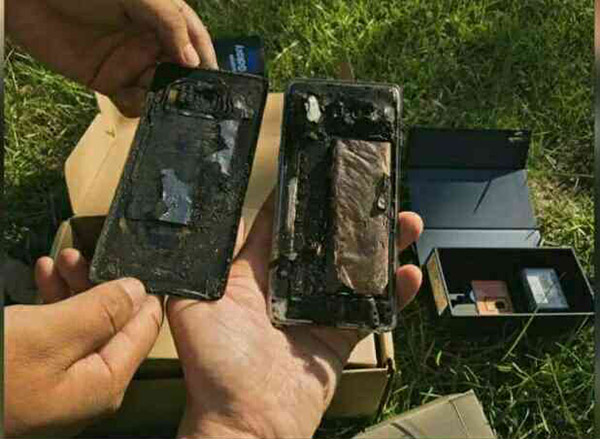 据称为张思童的Note7手机
