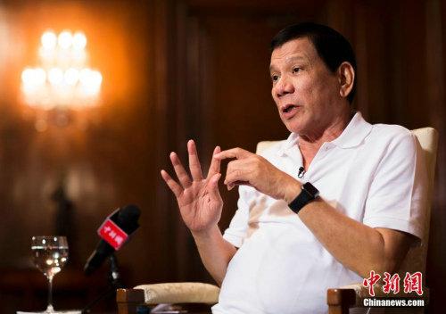 资料图:菲律宾总统罗德里戈·杜特尔特。