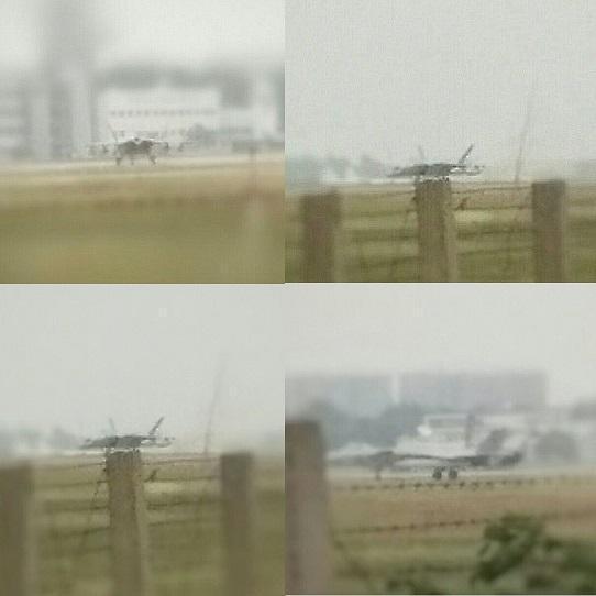 资料图:互联网媒体公布的照片,清晰可见歼-20一个挂载了4个副油箱。