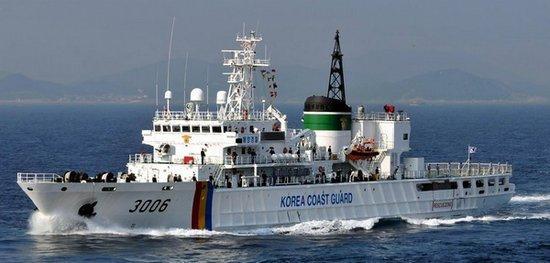 资料图:韩国海警船