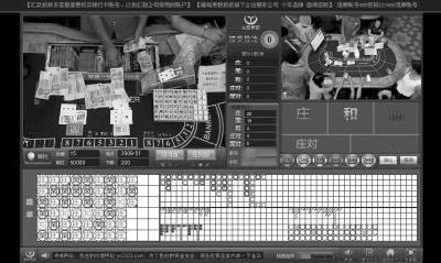 网络赌博操作页面截图。