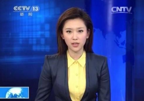 """央视90后女主播走红 被称""""小刘亦菲"""""""