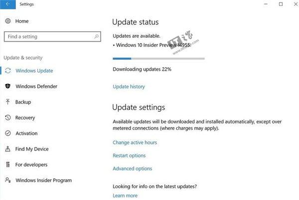Win10 RS2预览版14955升级截图曝光,或即将推送
