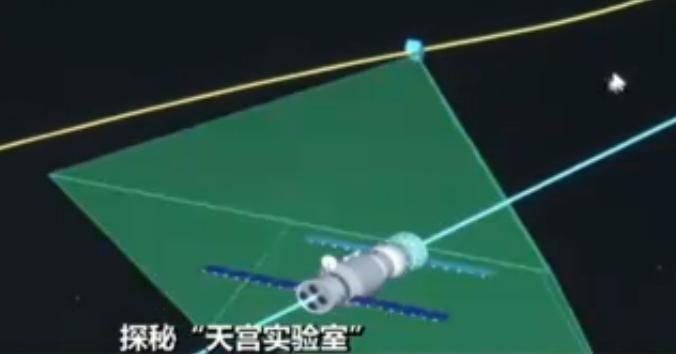 """伴随卫星伴随""""天宫二号""""飞行的同时,还利用高分辨率对交会后的""""天宫二号""""与神舟载人飞船进行高清拍摄"""