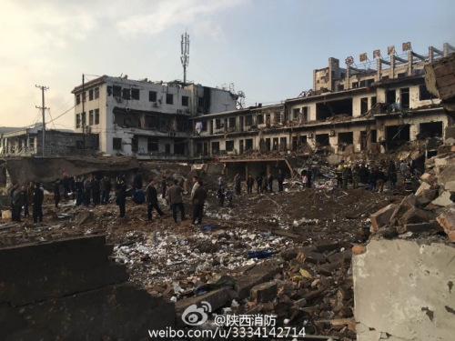 图片来自:陕西省公安消防总队官方微博