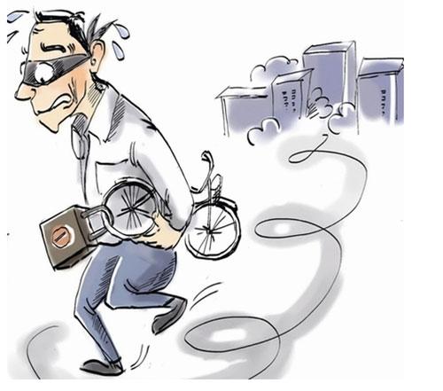 两名男子连偷10辆自行车 只因自己车被盗要泄愤