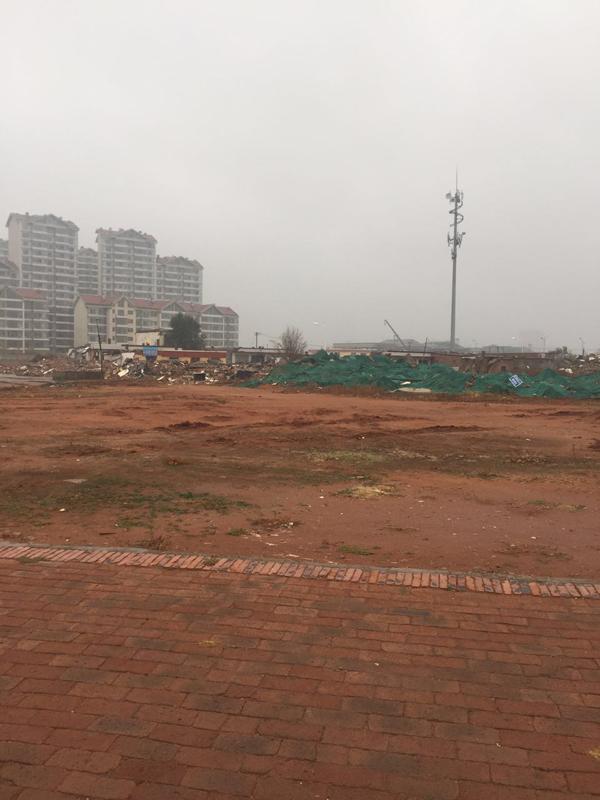 被拆除的棚户区