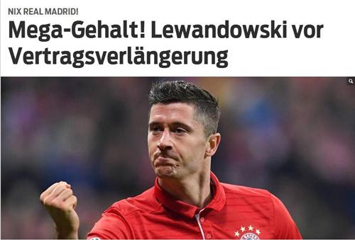 莱万续约拜仁在即 恐超穆勒成球队乃至德甲顶薪