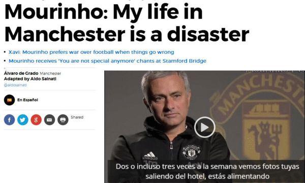 穆帅:在曼联的生活简直就像灾难 想干啥都不行
