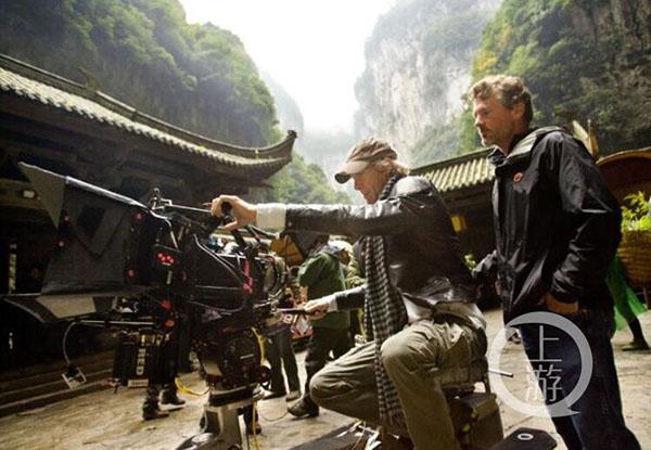 《变形金刚4》拍摄现场。