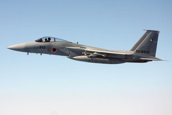 图为日本F-15战斗机。(新华社发)