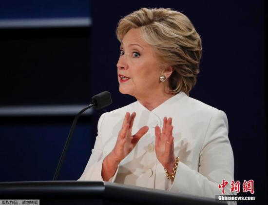 资料图:当地时间2016年10月19日,美国拉斯维加斯,2016美国总统大选第三场辩论也是最后一次辩论在美国内华达大学拉斯维加斯分校举行。