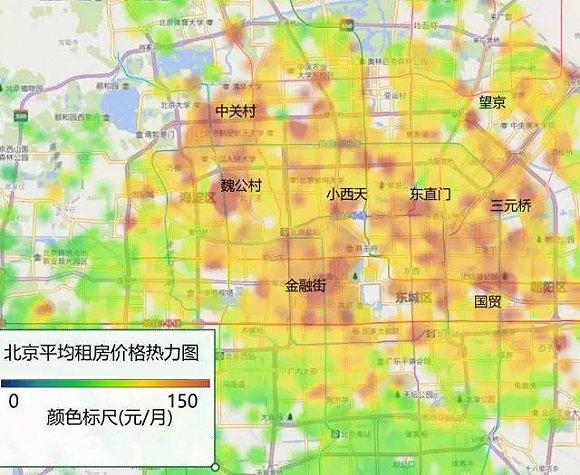 我们再以3D的形式绘制价格热力图(不同颜色代表不同区县,密集喜爱症福音):