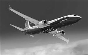 波音737 MAX飞机 资料图片