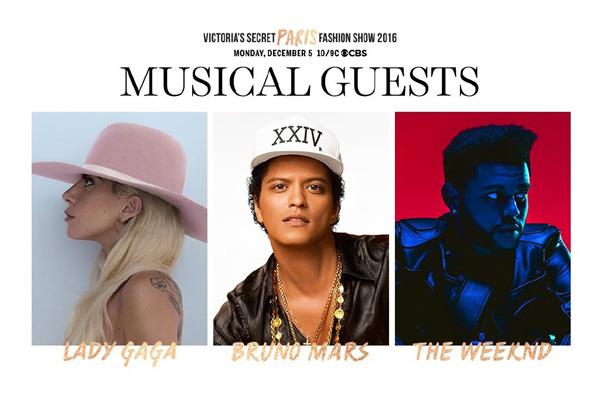 Lady Gaga、Bruno Mars、The Weeknd将带来表演