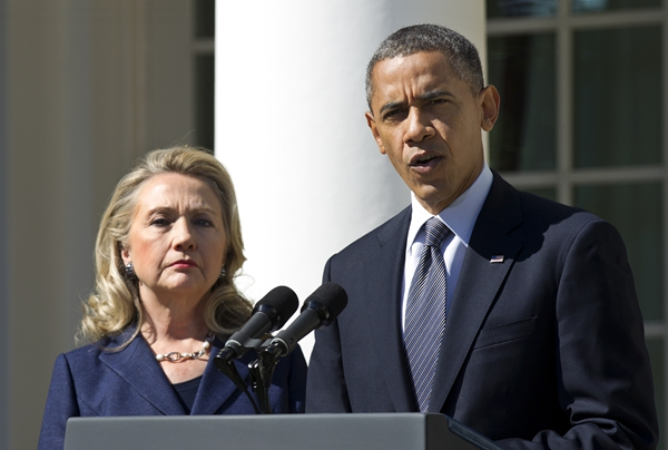克林顿与奥巴马