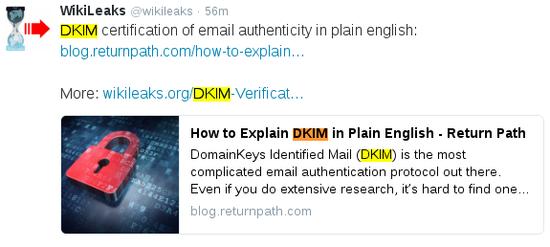 """看完""""精力烹�{""""的材料,再看 DKIM 加密的道理…… �w正我是吐了。"""
