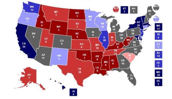 倒计时 特朗普拿下关键 摇摆州 入主白宫图片