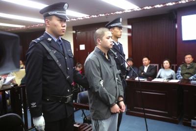 韩某在法庭上表示认罪。京华时报记者王晓飞摄