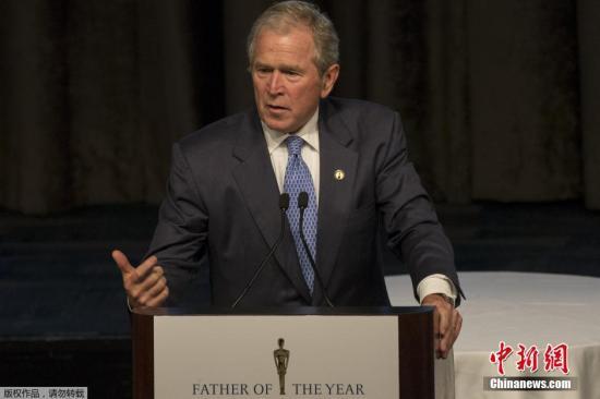 资料图:美国前总统小布什