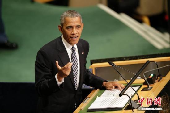 资料图片:美国总统奥巴马。 中新社记者 廖攀 摄