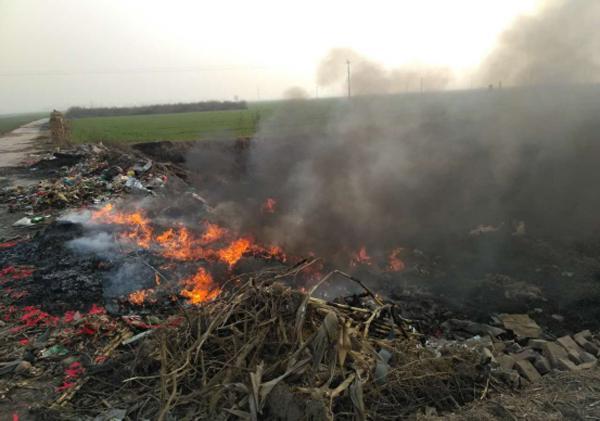 石家庄藁城区S392贯庄垃圾焚烧问题突出。