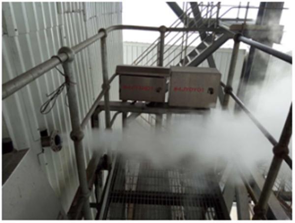 衡丰发电有限责任公司内排气管道存在烟气泄漏。
