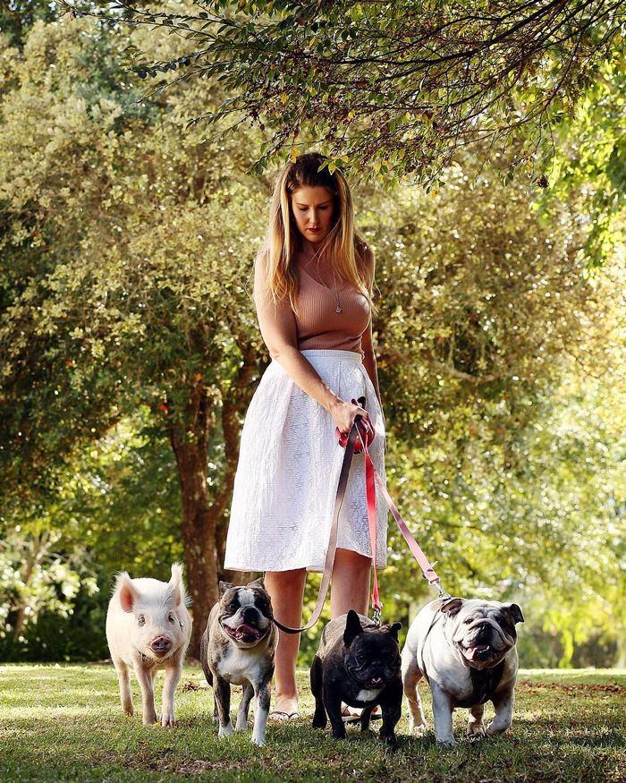 Alissa表示她希望拥有更多的家庭成员,可能在未来她会养一只迷你驴。