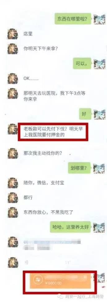 杨某以微信转账6000元,支付宝转账2000元的方式支付了货款.警方供图图片