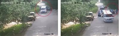 昨天赵密斯颁布的完好视频显现,事发20余分钟后,被山君撕咬的两小我被救出抬上营救车辆(摆布图红圈处)。视频截图
