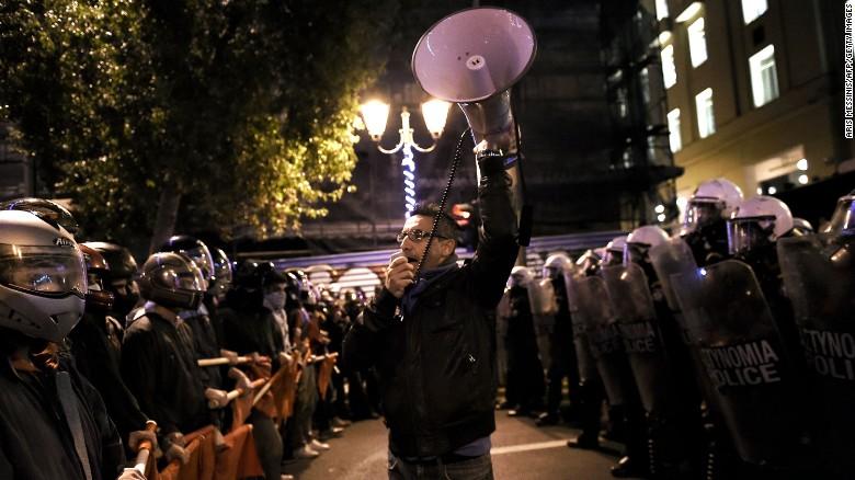 希腊民众抗议奥巴马来访