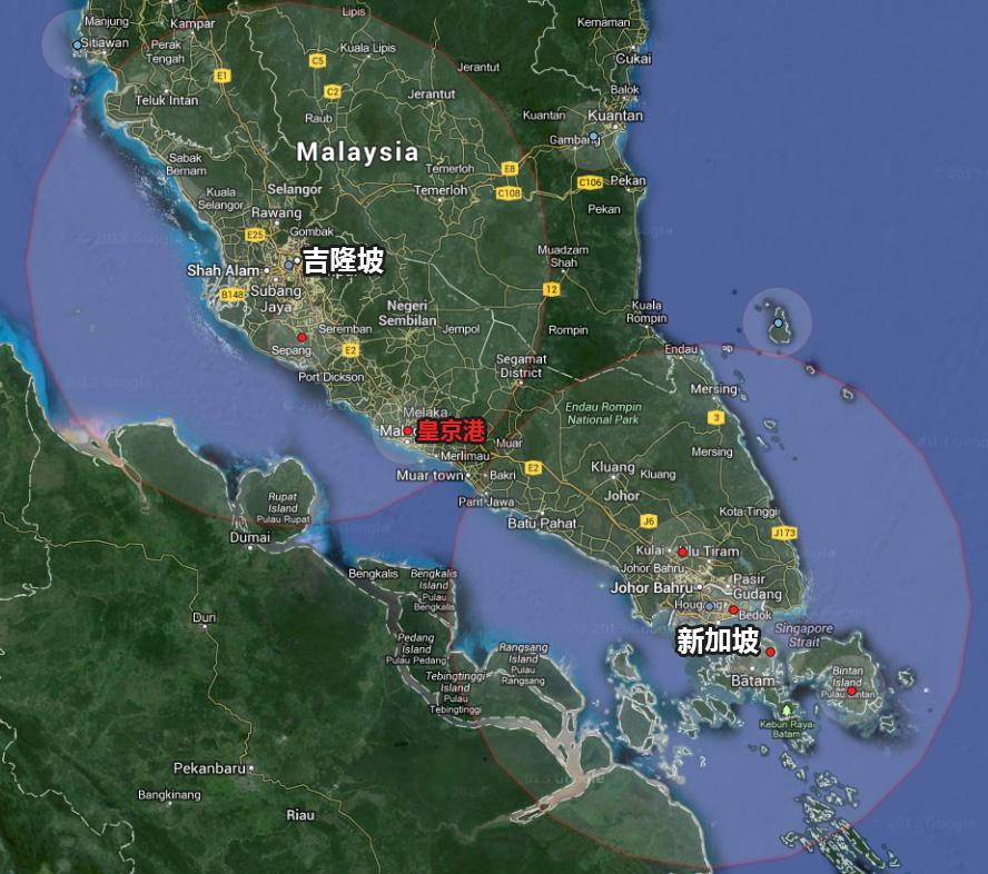 皇京港位于吉隆坡和新加坡之间的马六甲市,距离吉隆坡不到150公里