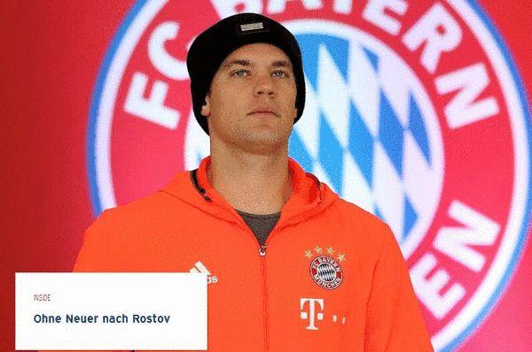 拜仁宣布诺伊尔受伤无缘欧冠 两将被证伤愈复出
