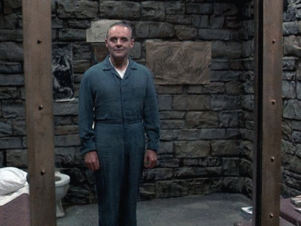 哦,安东尼・霍布金斯扮演的汉尼拔大夫,不需要说话,仅仅是站立在玻璃后面,就足以让你发抖……